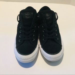 Converse Shoes - Converse All Star Matte Black Leather Sneaker 8